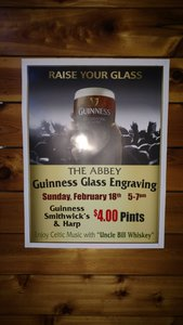 Irish Happy Hour with Host Bill Wisnowski guests Julie Sorcek and Gordon and Liz Jones Guinness Glass Engraving event