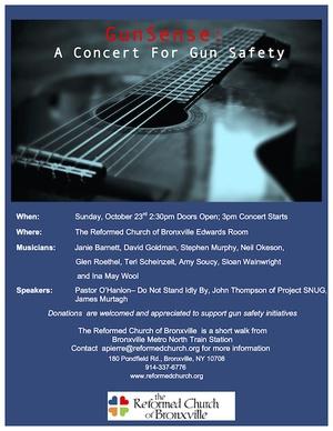 Gun Sense A Concert For Gun Safety