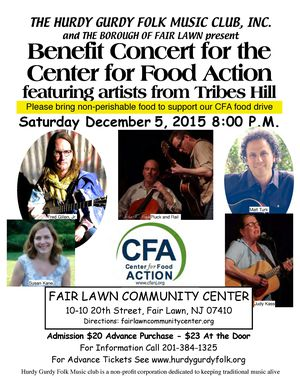 Benefit for the Center for Food Action featuring Tribes Hill
