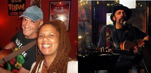 Curtis Becraft Carla Lynne Hall and Jorge Caraballo at Starving Artist Cafe