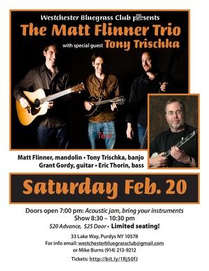 Matt Flinner Trio with special guest Tony Trischka