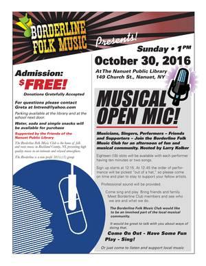 Borderline Folk Music Open Mic