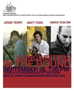 Jesse Terry Matt Turk Marc Von Em Songwriters in the Round