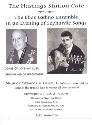 The Elias Ladino Ensemble In an Evening of Sephardic Songs
