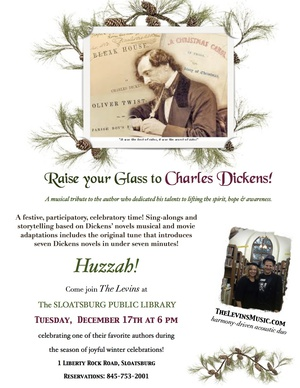 POSTPONED DUE TO WEATHER until Jan 28th nbsp nbspThe Levins039 Raise Your Glass to Charles Dickens show