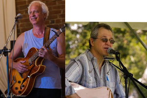 Larry Kolker and Phil Dollard at the Hastings Flea