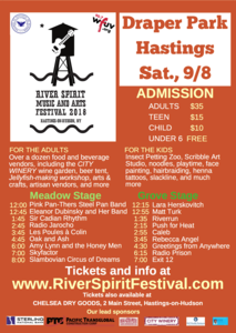 River Spirit Music and Arts Festival  Saturday September 8