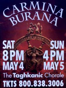 Carmina Burana Taghkanic Chorale Concert