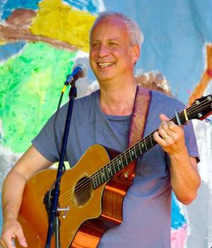 Larry Kolker at the New Morning Market Singer Songwriter Series