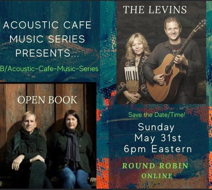 The Acoustic Cafe presents The Levins and Open Book  Sunday 531 6 PM ndash 7 PM