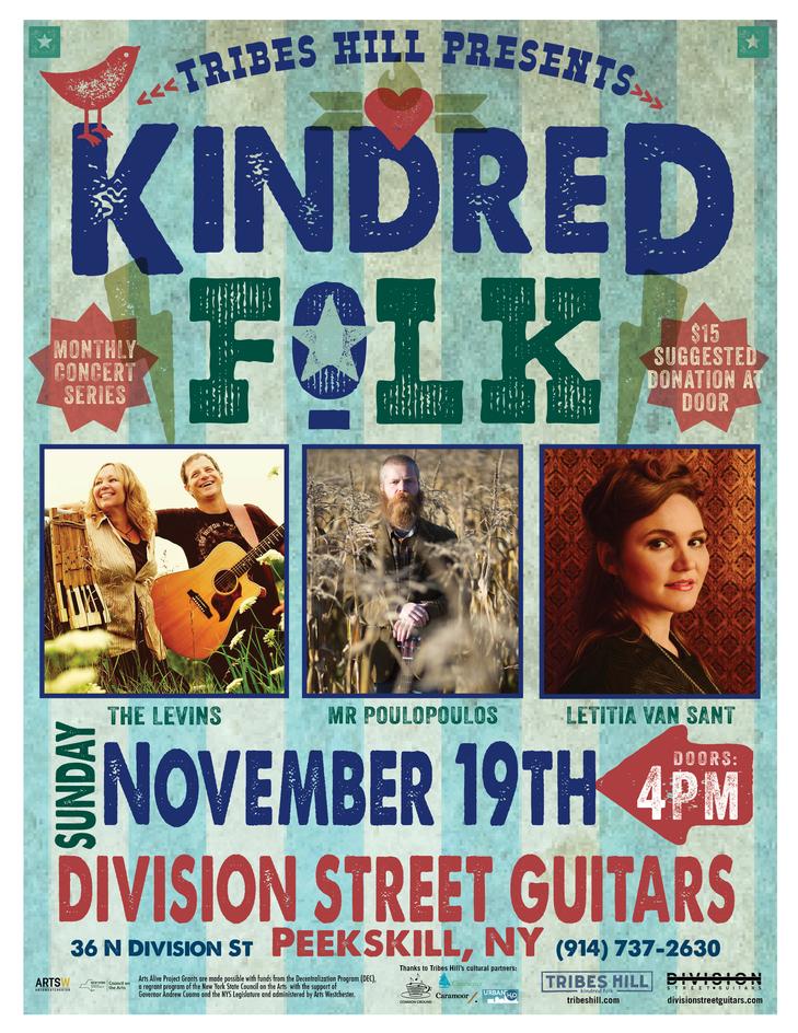 Tribes Hill Presents Kindred Folk  Sunday Nov 19th at Division Street Guitars