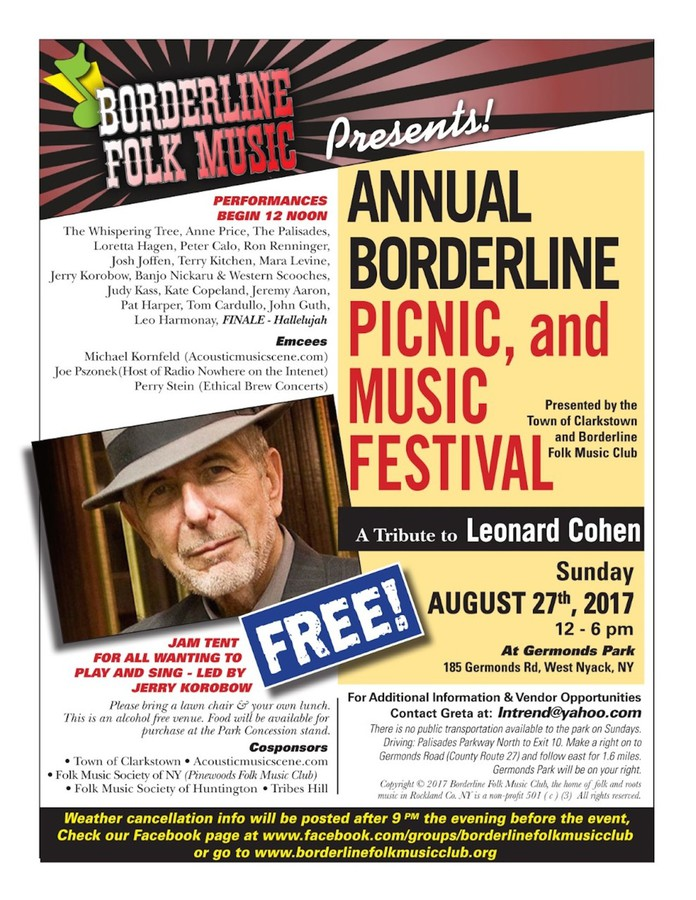 Annual Borderline Picnic - Sunday August 27