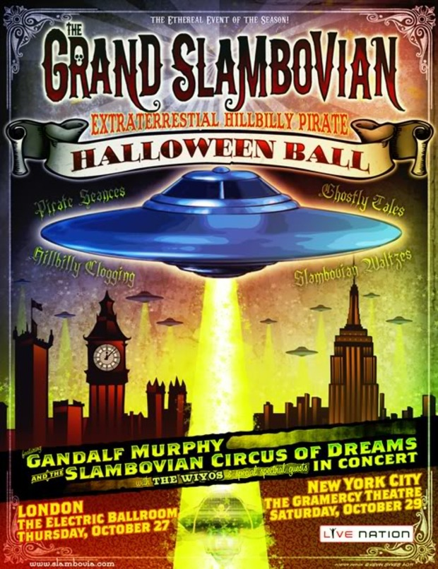 COME CELEBRATE 13 YEARS OF GANDALF MURPHY AND THE BEGINNINGS OF TRIBES HILL AT THE GRAND SLAMBOVIAN EXTRATERRESTRIAL HILLBILLY PIRATE BALL ON SATURDAY OCTOBER 29TH WITH YOUR KINDRED FOLK FRIENDS