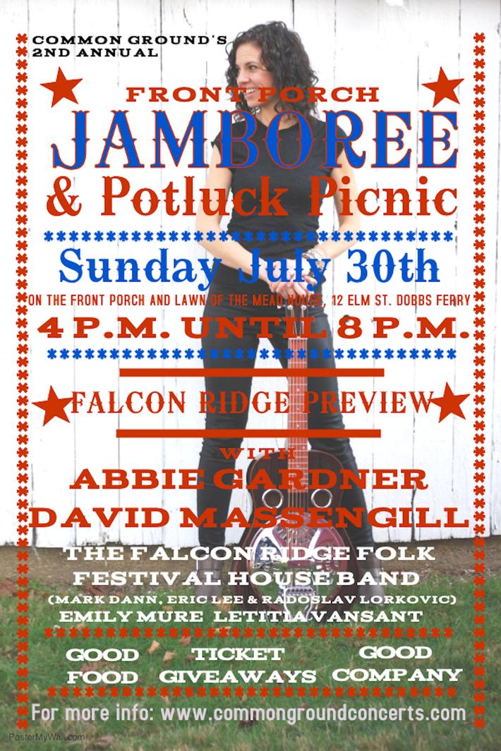 Common Ground039s Front Porch Jamboree amp Potluck Picnic  July 30