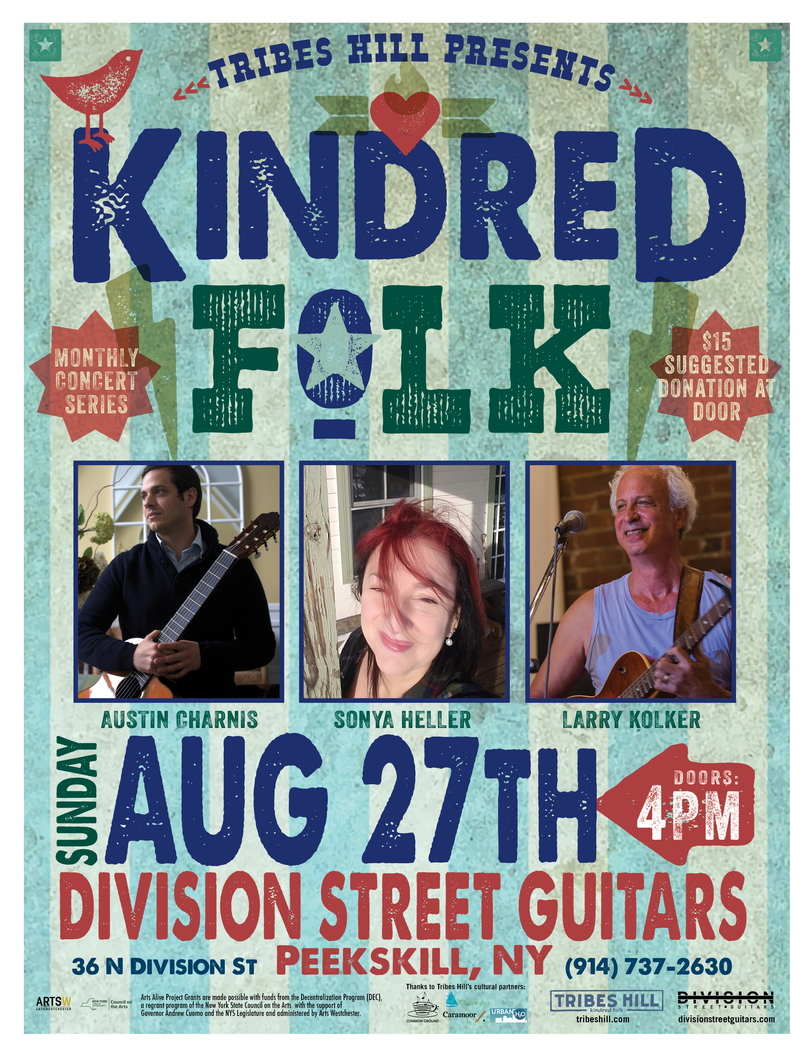 Tribes Hill Presents Kindred Folk at Division Street Guitars Peekskill  Sunday August 27th 4PM