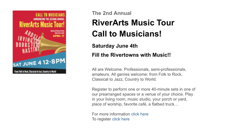 RiverArts Music Tour