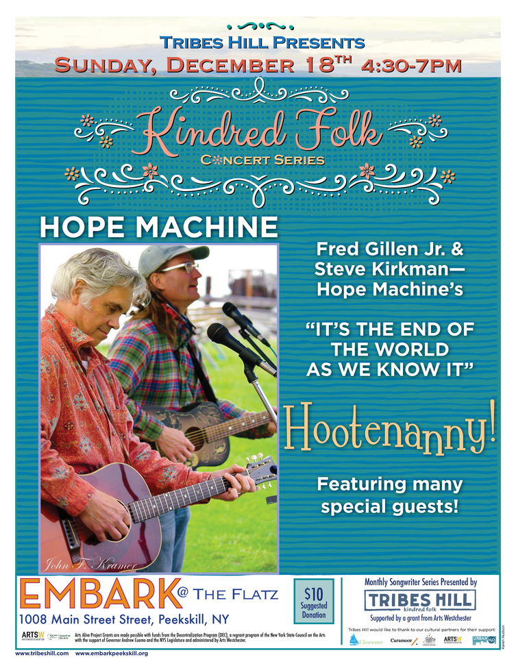 Tribes Hill Presents Kindred Folk at Embark  Sunday December 18th