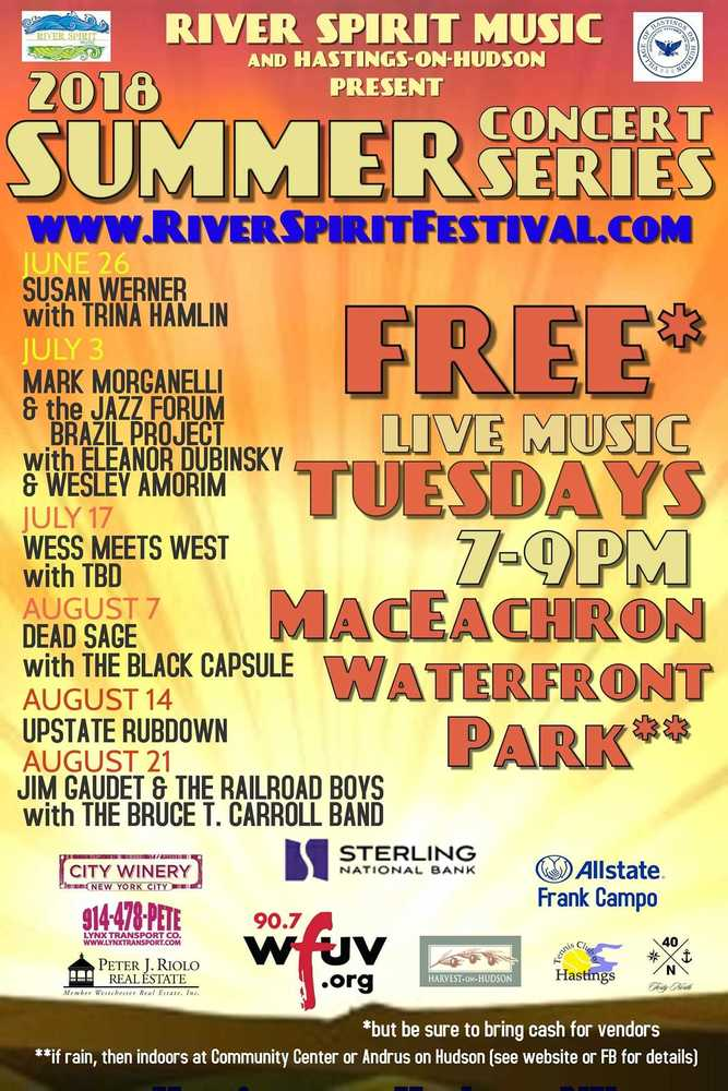 River Spirit Music Free Summer Concert Series in Hastings-on-Hudson